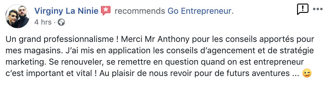 Anthony Léger, coach d'entrepreneures